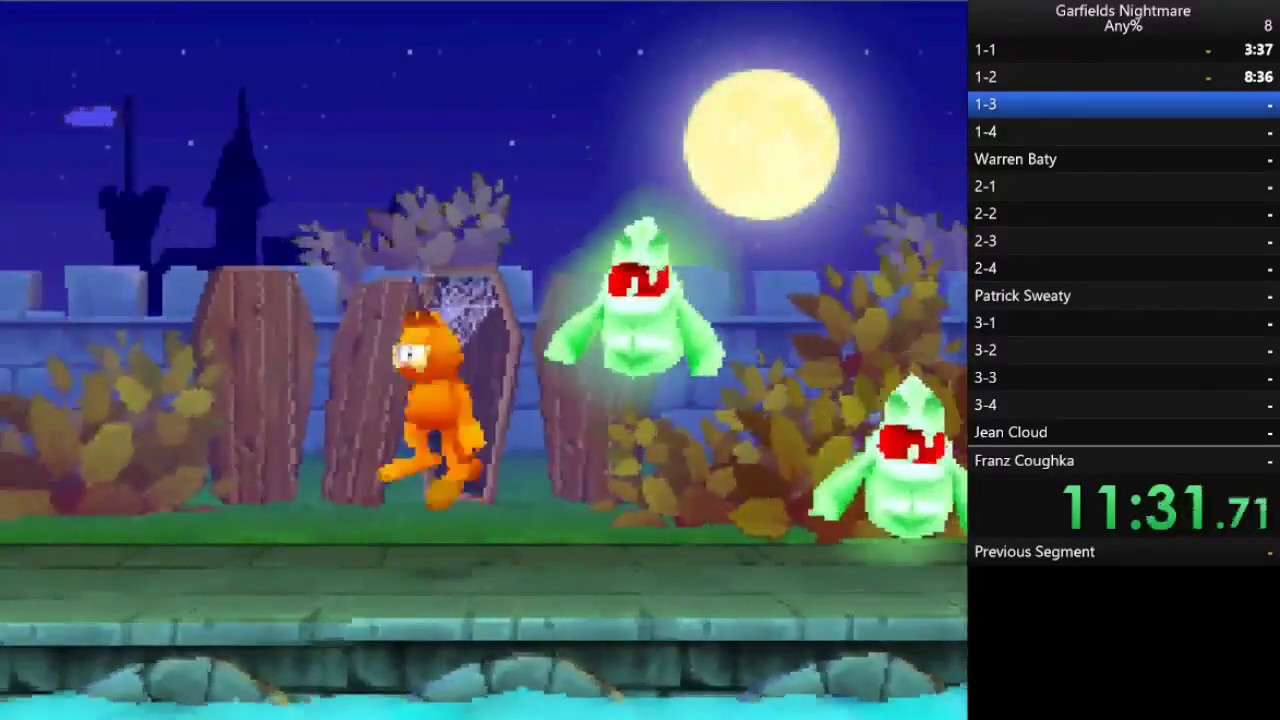 100 In 1h 36m 55s By Nosonic64 Garfield S Nightmare Speedrun Com