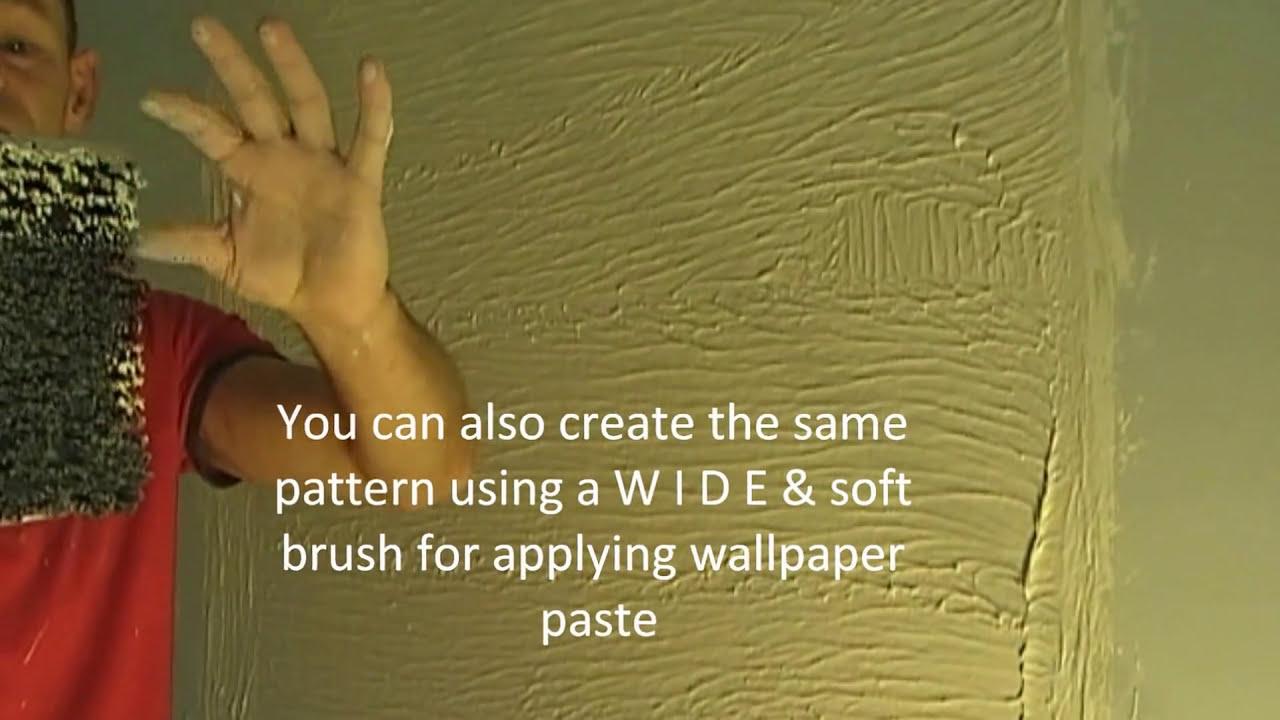 Stipple Brush Scroll Artexing Wall Texture Pattern - YouTube