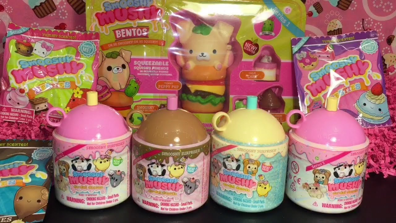 Smooshy Mushy Series 2 Do Dat Donuts Squishies Blind Bag Bento Surprise Box Opening & Review ...