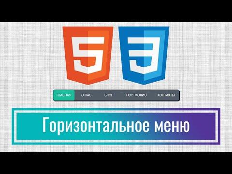 Как сделать красивое горизонтальное меню на сайт за 10 минут на HTML+CSS, Урок 2