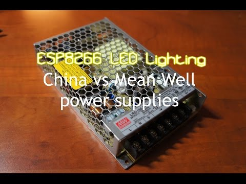 ESP8266 LED lighting: LED Power Supply China vs Mean Well