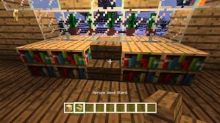 Minecraft Creative Building Classical Mansion Episode 12 Dining Hall/Kitchen