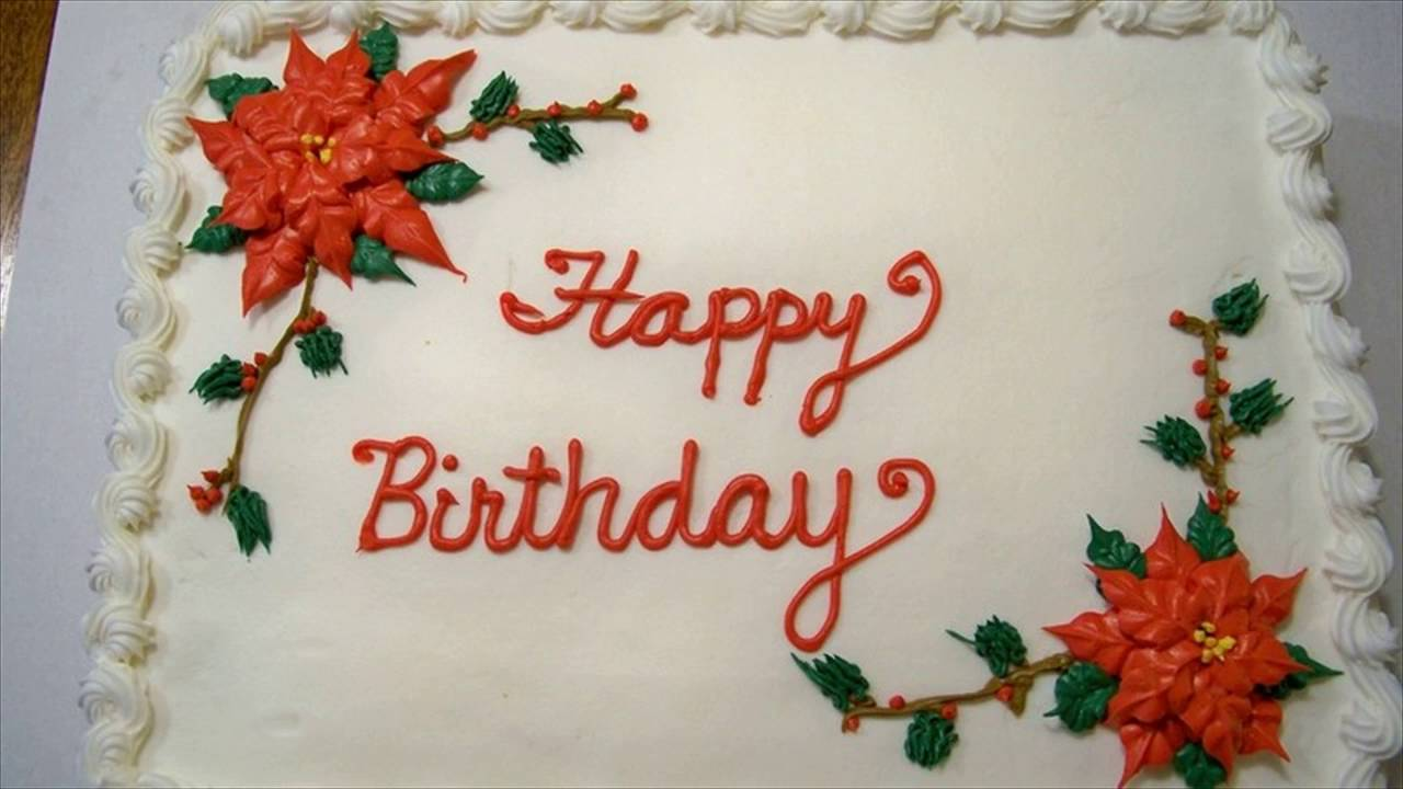 Christmas Birthday Cake Youtube