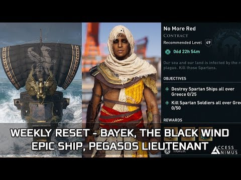 Assassin's Creed Odyssey - October Week 4 Reset - Bayek, The Black Wind Epic Ship, Contracts thumbnail