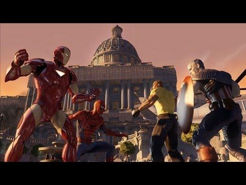 Marvel Ultimate Alliance 2 Walkthrough Part 1 (PS3, X360) Runthrough - [Anti]