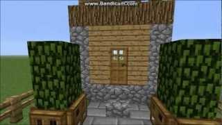 minecraft village build front npc yard tutorials
