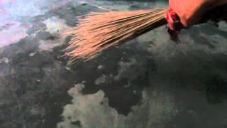 ASMR African Hand Broom Sweeping the Floor
