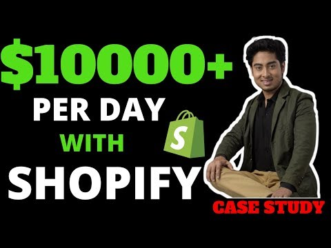 How to Make $10000+ a day | shopify thumbnail