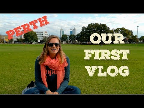 OUR FIRST VLOG! Exploring Perth!