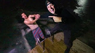 UNDER THE ICE!!  *i survived Roman Atwoods house*