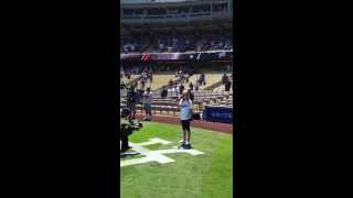 Los Angeles Dodgers - National Anthem (Elana Jane Sogard)