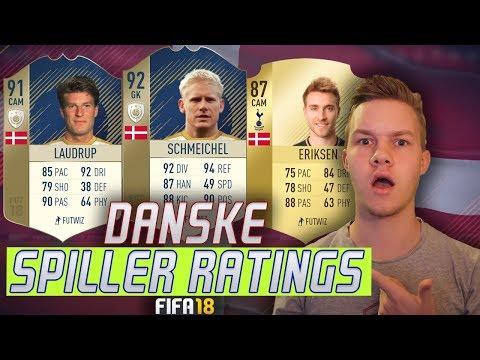 FIFA 18 DANSKE SPILLER RATINGS!