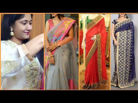 ఇలాంటి-బ్లౌజ్-ఎప్పుడైనా-చూసారా😂!-jomso-sarees-review-2020|-designer-sarees-collection-2020