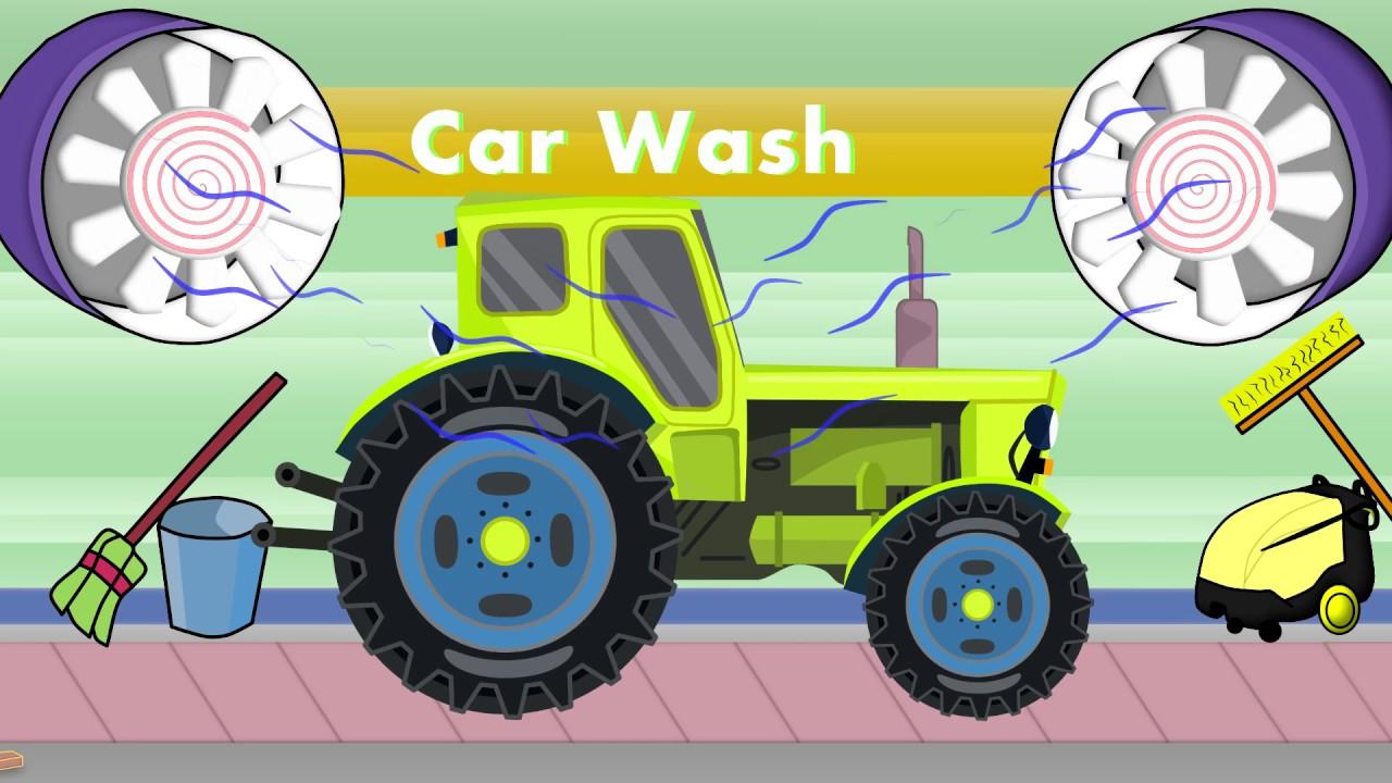 Tractor Car Wash For Kids Traktor Na Myjni Auto Myjnia Dla