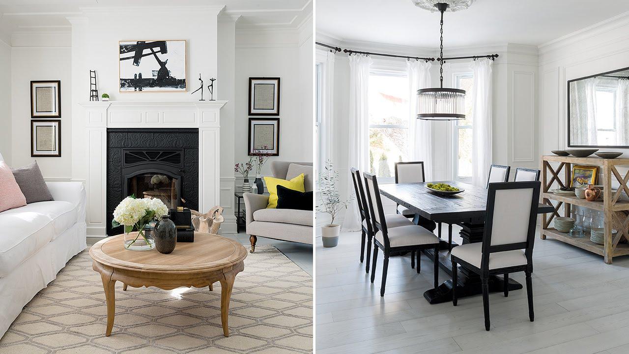 Interior Design  Tour A Bright Black-And-White Family ...