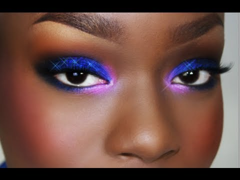 Purple Pink Blue Glitter SMOKY eyes | Easy Voice Over tutorial ...