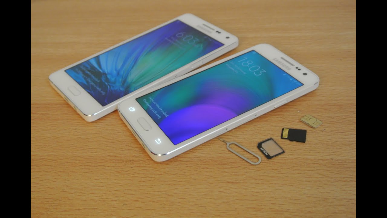 samsung galaxy a5 carte sim Samsung Galaxy A5, A3, A7   How to Insert SIM Card & Micro SD Card