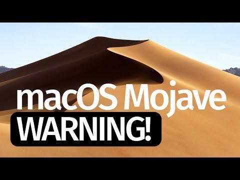 macOS Mojave 10 14 - Warning  Do Not Update! MacBook iMac MacBook