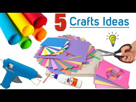 5-paper-crafts-for-home-decor-|-home-decoration-using-paper-|-wall-hanging-craft-ideas