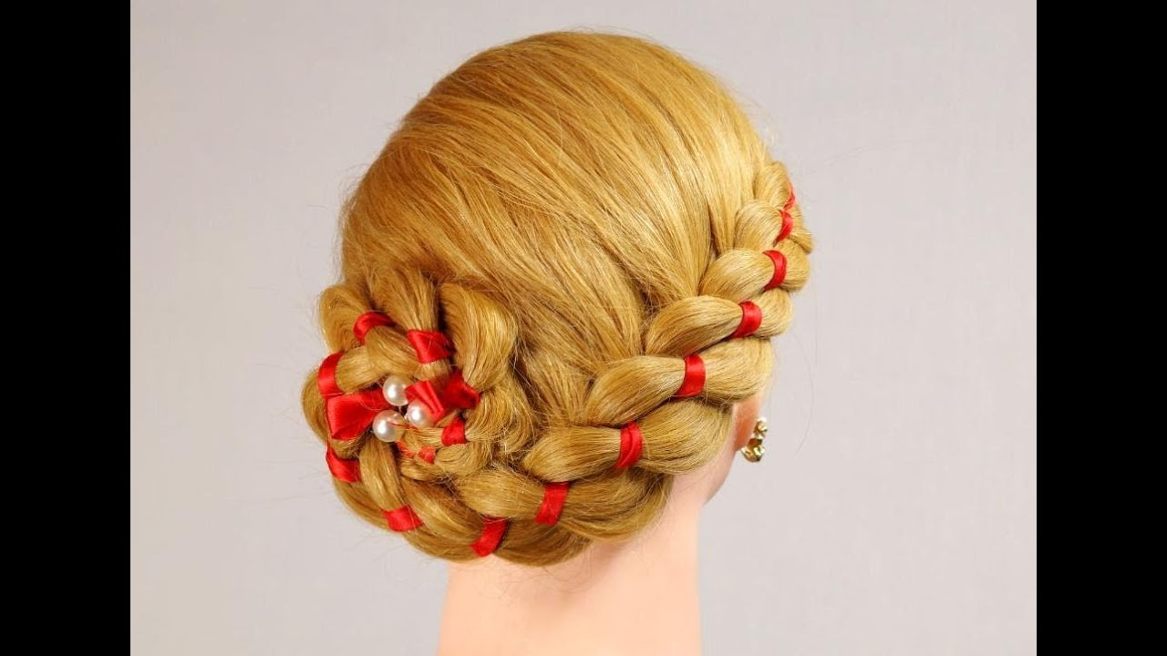 hair ribbon styles 4 strand braid with ribbon hairstyles for hair 5738