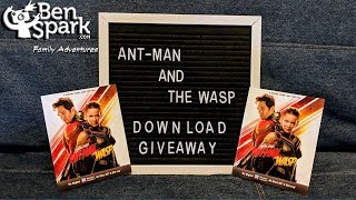 Marvel Studios' Ant-Man and The Wasp Digital Download Giveaway