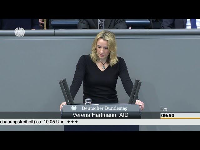 Verena Hartmann im Deutschen Bundestag am 27.04.2018