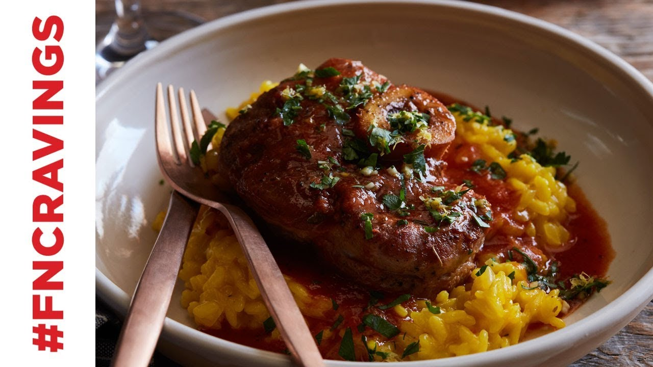 Osso buco with risotto milanese food network youtube osso buco with risotto milanese food network forumfinder Images