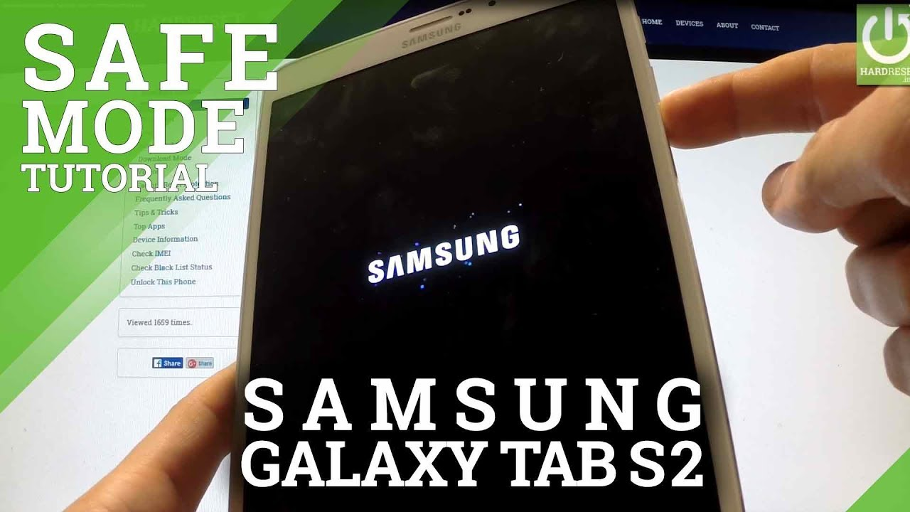 Safe Mode SAMSUNG Galaxy Tab S2 8 0 - HOW TO ENTER and QUIT Safe Mode