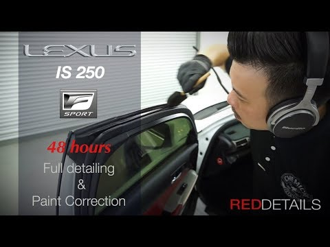"""Lexus IS250 F Sport """" Pearl White """" Full Detailing & Paint Correction"""