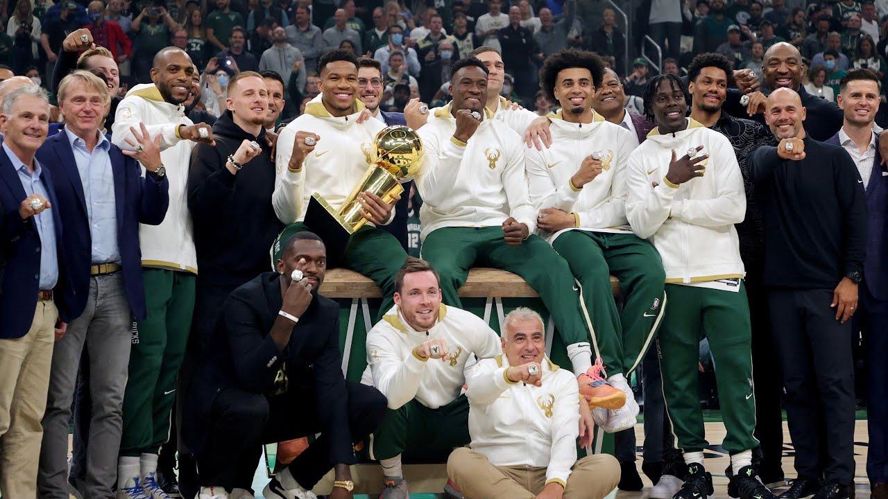 Download Milwaukee Bucks FULL NBA Championship Ring Ceremony 💍