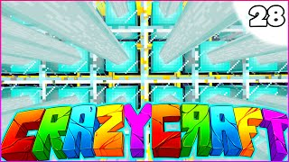 "Minecraft CRAZY CRAFT 3.0 SMP - ""POWERING UP"" - Episode 28"