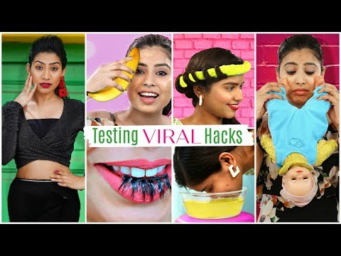Testing VIRAL Beauty & Fashion HACKS .. | Anaysa - Видео онлайн