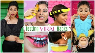Testing VIRAL Beauty & Fashion HACKS .. | Anaysa