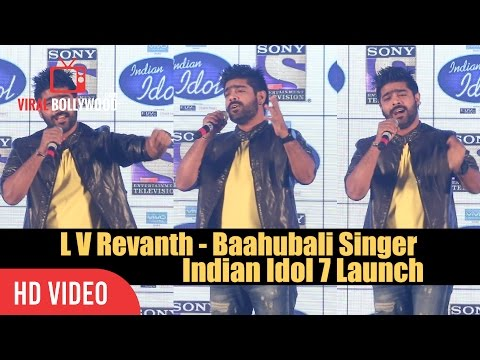 Baahubali Singer L V Revanth First Performance | Indian Idol 7 Launch