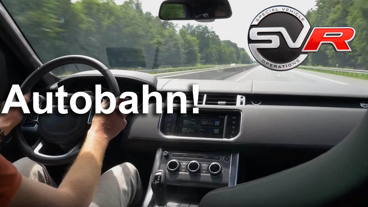 Range Rover Sport SVR TOP SPEED Sound LOUD! Exhaust ...