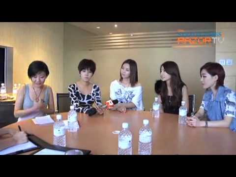 Brown Eyed Girls interview @ Singapore SunDown Concert Part1