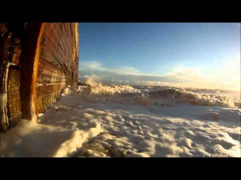 GoPro in rough seas at Rye Harbour HD