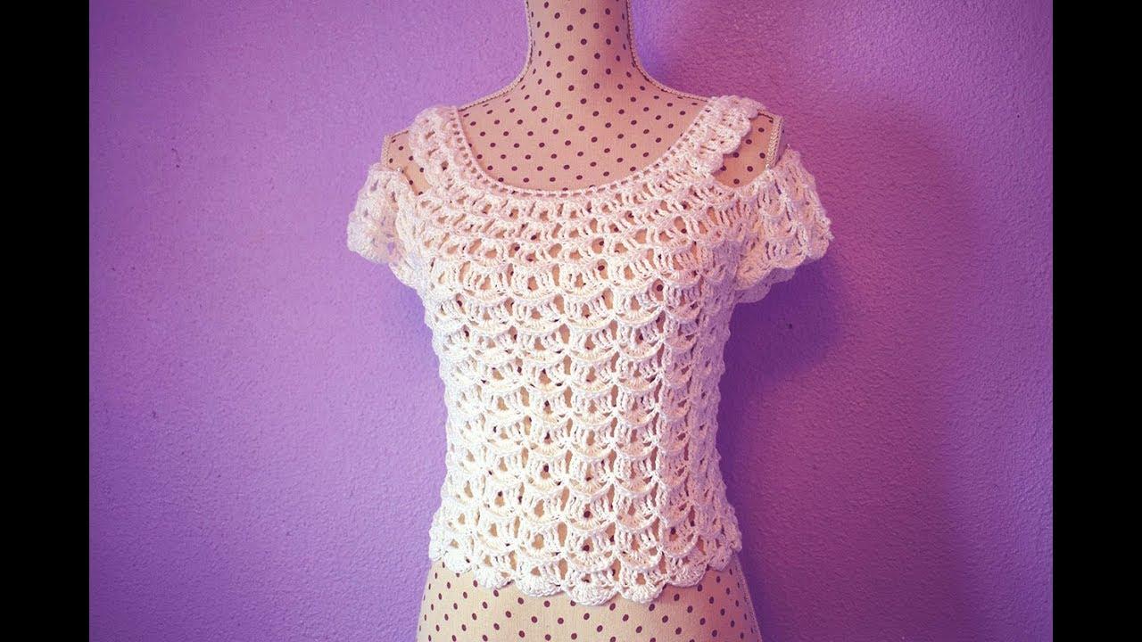 Blusa De Mujer A Crochet Muy Fácil Y Rápido Majovel Crochet Youtube