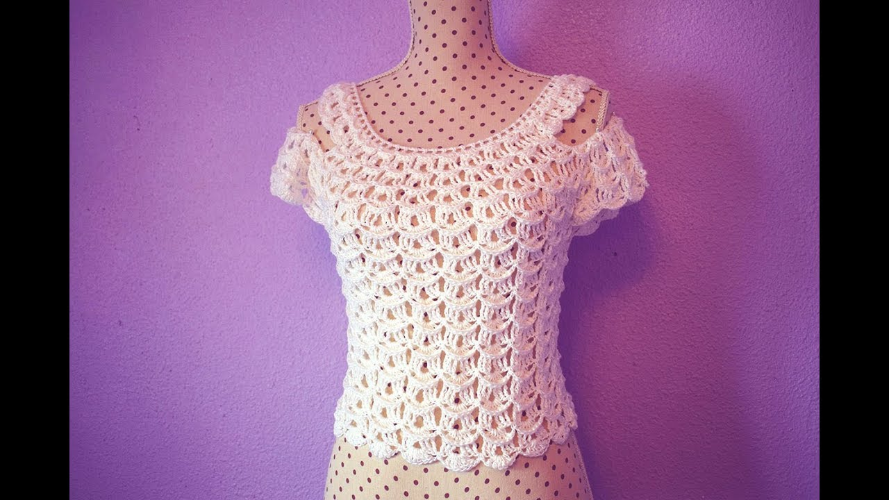 50172489d70cb Blusa de mujer a crochet muy fácil y rápido Majovel crochet - YouTube
