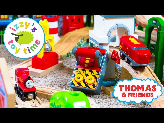 Thomas and Friends   Thomas Train and HAPE REMOTE CONTROL TRAIN! Fun Toy Trains for Kids & Children