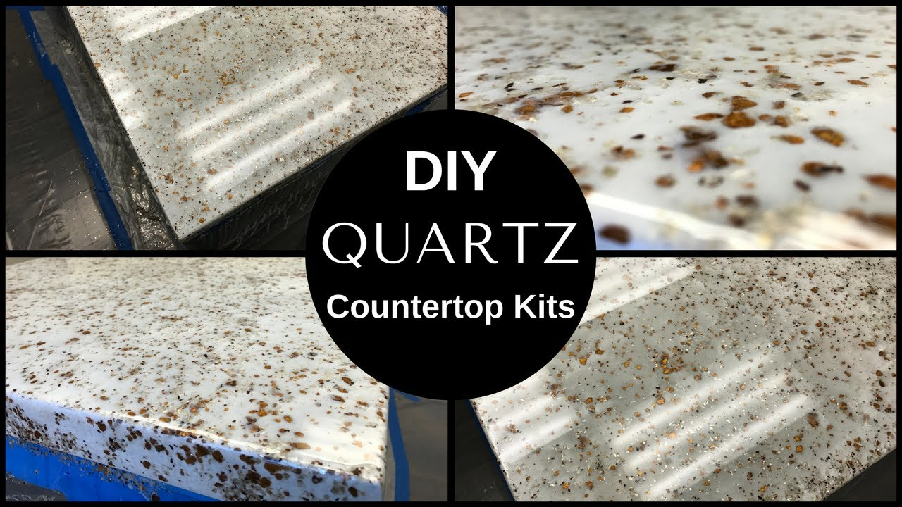How To Diy White Quartz Countertop Resurfacing Kits Leggari 39 S New Countertop Kit Youtube