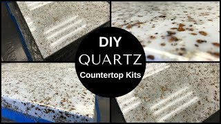 HOW TO: DIY White Quartz Countertop Resurfacing Kits//Leggari's New Countertop Kit