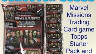 Marvel missions trading card game Topps starter pack with 6 packets