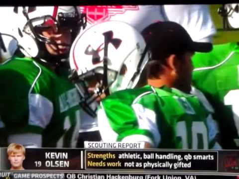 Miami Kevin Olsen Gets Shine On Espn U Recruiting Nation Ua Practice Day1 Mp4