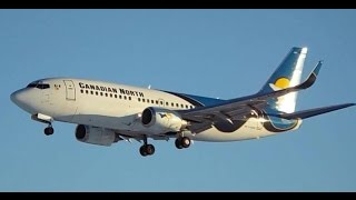 Canadian North Boeing 737-300 Take-off & Landing , Quebec City Airport (YQB)