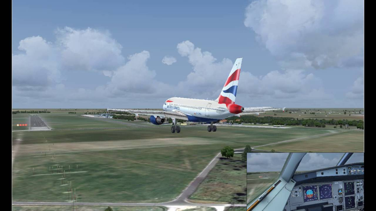 fsx a318 cfm ils approach and manual touchdown on epwr youtube rh youtube com Delta A318 A380 vs A318