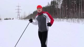 Как кататься коньковым ходом  Урок 3  Подъем попеременным ходом по Ворошиловски