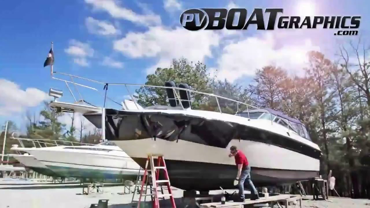 Boat Wrap Time Lapse YouTube - Baja boat decals easy removalremoving vinyl striping from your boat hull youtube