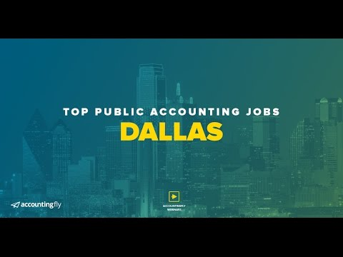 Top Public Accounting Jobs: Dallas