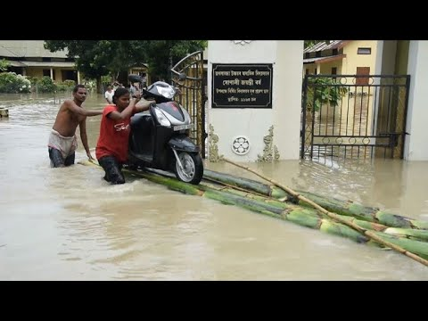Scores dead in flooding and landslides in India and Nepal